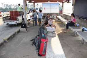 Une séance école avant l'embarquement...